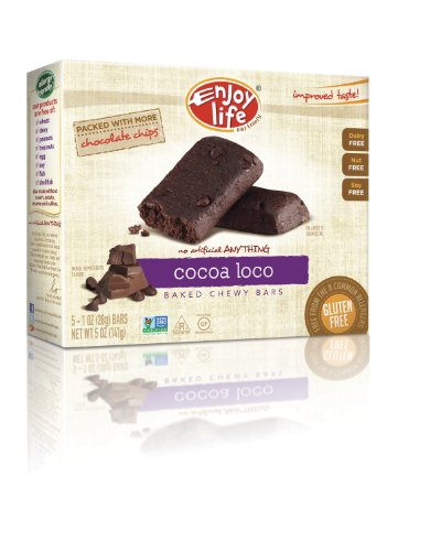 Enjoy Life Chewy On-The-Go Bars Cocoa Loco -- 5 (Cocoa Loco Snack)