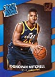 2017-18 Panini Donruss Basketball #188 Donovan Mitchell Rookie Card - Rated Rookie