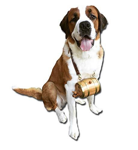 Personalized St. Bernard Dog Collar Barrel (Half Liter with Brass Hoops)