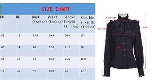 Longues Manches Costume Debout Tops Rose Volants lgant pissure Blouse Chic Unicolore Mousseline Dentelle Strappy Printemps Bowknot Col Festive Haut Automne Shirts Vintage Mode Femme Chemise aw7OqX7