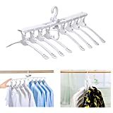 8-in-1 Hangers,Foldable Multi-Function Hanger Hanging 8 Pieces of Clothes to Save Space and Drying Clothes