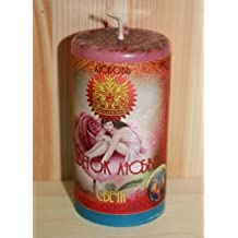 Wicca Pagan Candle Flower of Love