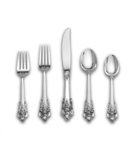 - Wallace Grande Baroque 66-Piece Sterling Silver Flatware Set with Double Bonus, Service for 12