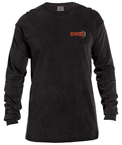- NCAA Oregon State Beavers Basketball Outline Long Sleeve Comfort Color Tee, Medium,Black