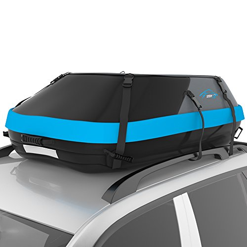 STDY 20 Cubic Feet Rooftop Cargo Top Carrier Bag,Travel Cargo Bag Box Storage Luggage by Waterproof 600-Denier Polyester Material-with Easy to Install Straps-Soft Shell Luggage Rack Bag (20 ()