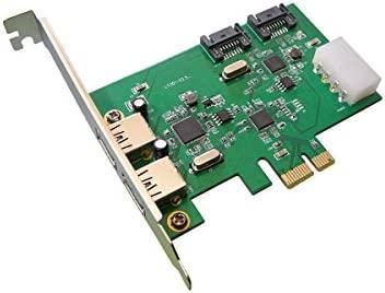 Kalea Informatique - Tarjeta controladora PCI Express a 2 puertos USB 3.0 y 2 puertos SATA (chipset ASM1042 y ASM1061)