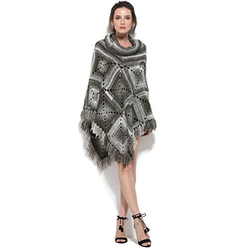 ZORJAR Wool Blend Winter Scarf Crochet Ponchos Knitted Capes 2017 New Design by ZORJAR