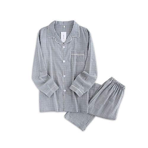 Casual Uomini Set Sleepwear Cotone Lungo Estate Xl Manicotto Plaid Giovane L Reticolo Pigiama Tengtengcai YIRdPY