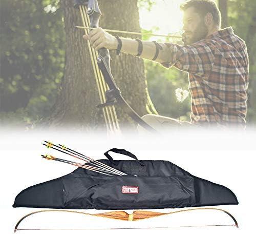 Archery Canvas T-Type Bow Case Archery Hunting Crossbow Bag R7Y6