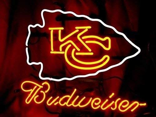 Desung New 24x20 Kansas City Kc Sports Team Chief Budweisers Neon