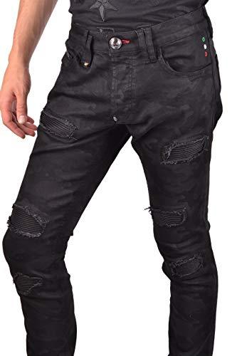 Jeans Plein Cotone Mdt1096pde004n02 Nero Uomo Philipp zSTqv5x5