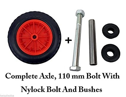 Pu 14 puncture proof red wheelbarrow wheel tyre 350 8 foam pu 14 puncture proof red wheelbarrow wheel tyre 350 8 foam filled axle amazon diy tools solutioingenieria Gallery