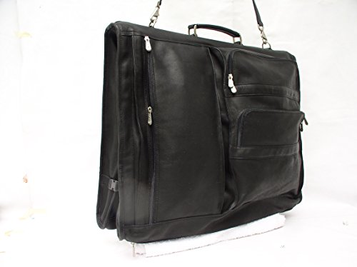 Piel Leather Traveler Executive Expandable Garment Bag in Black by Piel Leather