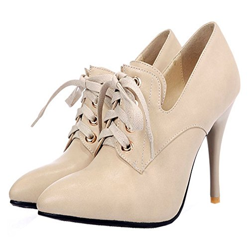 Coolcept Women Simple High Heel Court Shoes Apricot OmshFQF