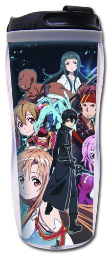 Sword Art Online: Kirito, Asuna, Lisbeth and Silica Group Key Art Tumbler