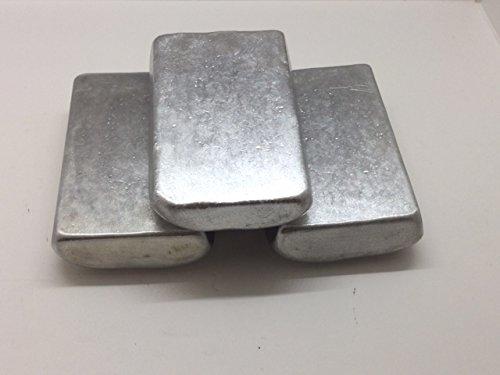 Aluminum Ingot (Small Ingots). 1 Pound 3000 Series Aluminum - Iron Ingot Bar