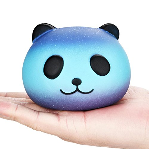 Iuhan Galaxy Cute Panda Baby Cream Scented Squishy Slow Rising Squeeze Kids Toy (A)