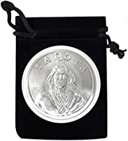 1 - Lakota Nation Silver Coin in Air Tite and Black Velvet Bag 1 Troy Ounce .999 Fine Silver AOCS Approved - U