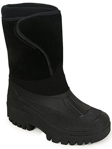Red Thermo Rubber Mucker Leather Walking Equi Country Groundwork Boots New Velcro Wrap Lined wXOO7f
