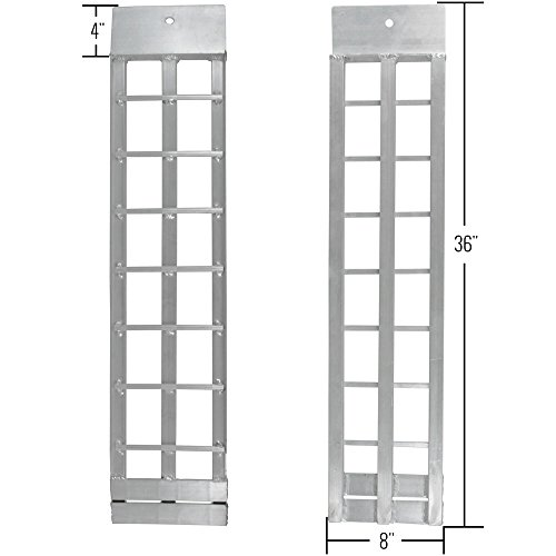 Apex Aluminum Dual Runner Shed Ramps – S-368-1500 - Lightweight & High-Strength Loading Ramps – 1,500 Pound Total Weight Capacity – Sold in Pairs – One-Year Warranty by Apex (Image #1)