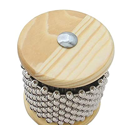 Finance Plan Musical Toy Wood Metal Hand-held Cabasa Children Kids Percussion Instrument Musical Toy: Toys & Games