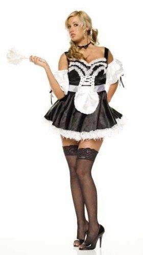 Leg Avenue Women's Sexy French Maid Dress, Black/White, Medium]()