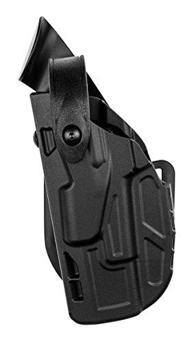 - Safariland 7362 7Ts ALS/SLS Hi-Ride Level-3 with Hood Guard Glock 17, 22 Holster, Black STX Basket, Left Hand