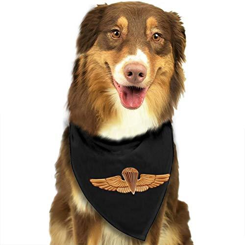 - HJKH PJKL United States Naval Academy Parachutist Badge Pet Dog Puppy Cat Triangle Bibs Scarf Bandana Collar Neckerchief Mchoice - Any Pets
