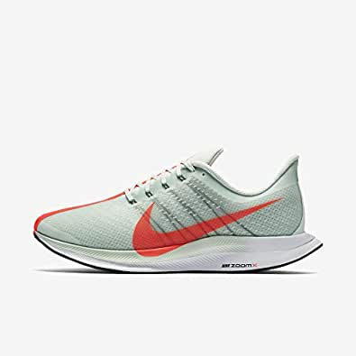 NIKE Men's Zoom Pegasus 35 Turbo, Barely Grey/HOT Punch-Black, 10 M US