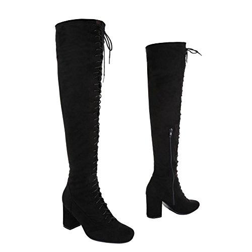 clásicas Botas Negro Design mujer para Ital q7nTFEpww