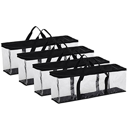 Fasmov 4 Pack DVD Storage Bags Hold up to 160 DVDs (40 Each Bag)