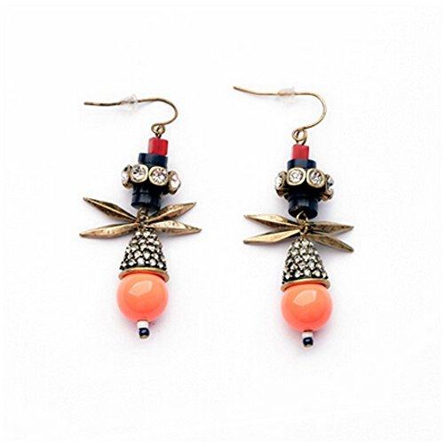 Elakaka Women's Retro Popular Beads Earrings (Posh Spice Costume)
