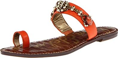 Sam Edelman Women's Gillie Gladiator Sandal,Orange,9.5 M US