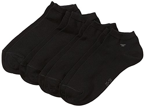 corti da unisex Nero 610 Black 4 pacco Calzini Tom Schwarz Tailor opache UqT11w