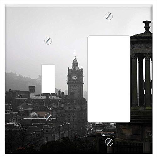 1-Toggle 1-Rocker/GFCI Combination Wall Plate Cover - Edinburgh Carlton Hill Landscape Scotland Uk