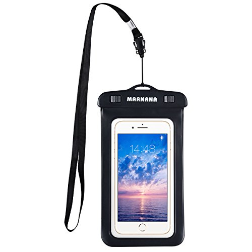 Floating Waterproof Case, Marnana Pouch Underwater Dry Bag with Sensitive PVC Touch Screen for Cellphone Up to 6.0