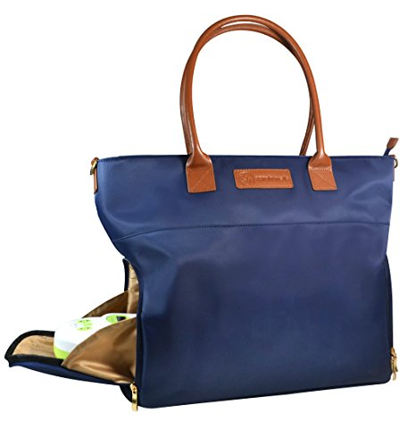 Sarah Wells ''Abby'' Breast Pump Bag, Real Leather Straps (Navy) by Sarah Wells (Image #3)