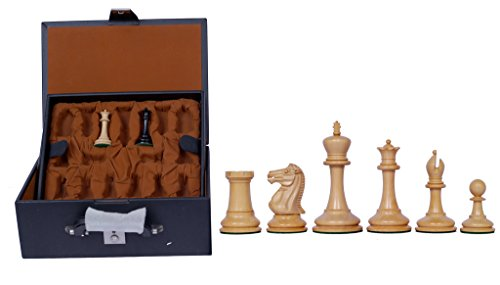 Staunton Castle, Championship Series Wooden 3.5'' Chess Pieces - Best Chess Board Game - Beginner Learning Teaching Professional Optimal Weighted Chess Pieces, for Kids & Adults