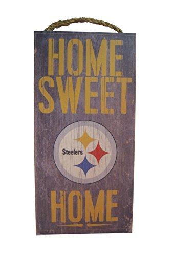 Pittsburgh Steelers 6 x 12 Home Sweet Home Wood Sign