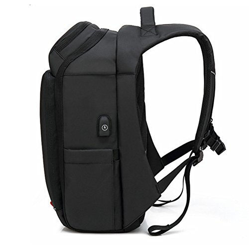 Commuter Commute Large Bag Anti Backpack Port Black Business Trip theft Mount Men's Earphone Popular Design Hole Usb Black color Capacity Multifunction Lightweight adfdwxT