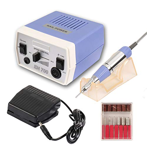 Dr.Nail Professional Nail Drill Machine 30000RPM Electric File For Acrylic Gel Nails Grinder Manicure Pedicure Techs Nail Art Tools Polisher Machine Low Vibration Low Noise Low Heat (Blue)