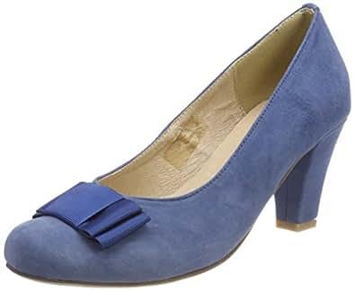HIRSCHKOGEL 1004504, Zapatos de Tacón con Punta Cerrada para Mujer, Gris (Grau 031), 36 EU