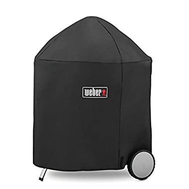 Weber 7153 Grill Cover with Storage Bag for Weber 26.75-Inch Charcoal Grills, 26.75 Inch