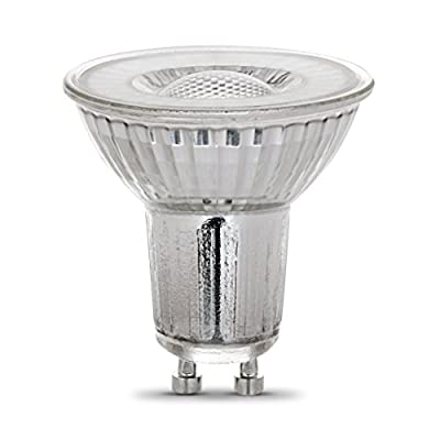 Feit Electric 35-Watt Equivalent MR16 GU10 Dimmable LED 90+ CRI Flood Light Bulb, Bright White (6-Pack)