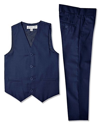 (Johnnie Lene Boys Formal Vest and Pants Set #JL42 (4, Royal)
