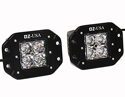 OZ Flush Mount pod Flood Beam Led Lights Fog Atv Offroad 3x3 Race Truck Cube dually 4x4 offroad cree Rv