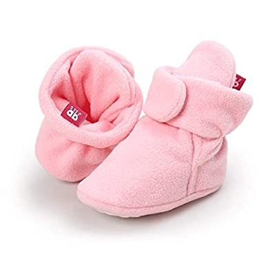 Meeshine Newborn Baby Boys Girls Winter Cozy Booties Anti-Slip Soft Sole Infant Toddler Snow Boots Crib Shoes