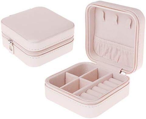 SODIAL Caja de Joyería Portátil Cremallera PU Organizador de Almacenamiento Soporte de Joyería Exhibición de Viajes Caja de Joyería de Viaje Cajas de Regalo para Mujeres (Rosa): Amazon.es: Hogar