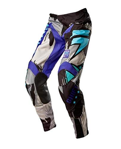 Shift Motorcycle Pants - Shift Racing Strike Army Men's MX Motorcycle Pants - Purple/Size 36