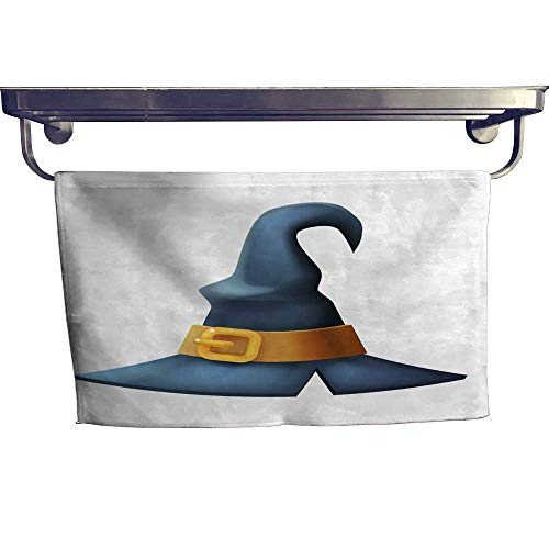 homecoco Quick-Dry Towels Witch hat Halloween Children Costume Kid Masquerade Party d Cartoon icon Vector Illustration Towel W 14